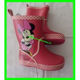 Bottes de pluie Minnie Mouse roses Disney P. 25