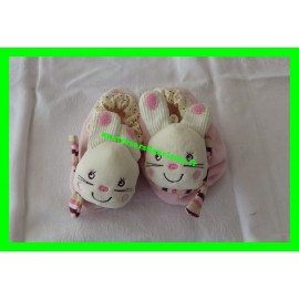 Chaussons roses lapin My Baby